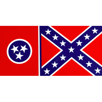 Flag of Tennessee with Confederate Flag Sticker