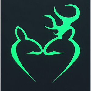 Green Deer Heart T-Shirt