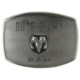 Guts, Glory Ram Belt Buckle