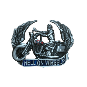 Hell On Wheels Confederate Flag Belt Buckle