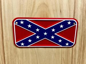 Motorcycle Confederate License Plate