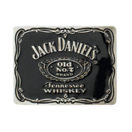 Jack Daniel's Label Black Belt Buckle