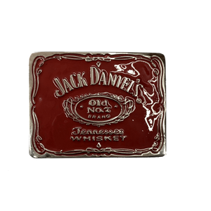 Jack Daniel's Label Red Belt Buckle