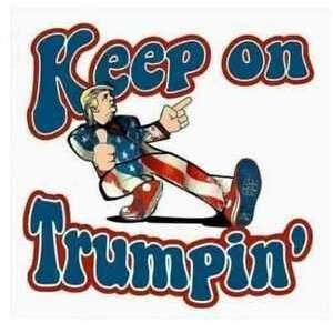 Keep on trumpin' Sticker