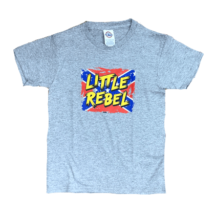 Little Rebel Confederate Flag T-Shirt (Youth)