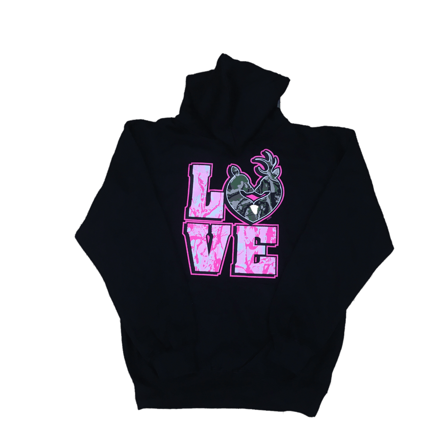 """Love"" Camo Deer Sweatshirt"