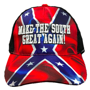 Make The South Great Again! Confederate Flag Hat – The Dixie Shop afe3ebffdfe