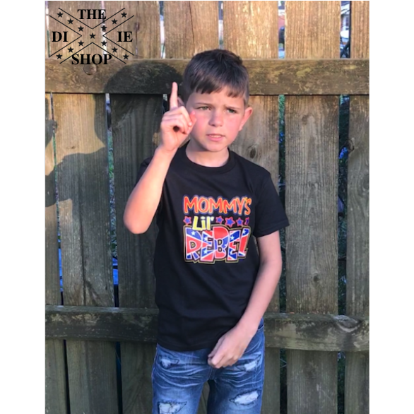 Mommy's Lil Rebel Confederate Flag T-Shirt (Youth)