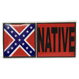 Native Confederate Flag Sticker