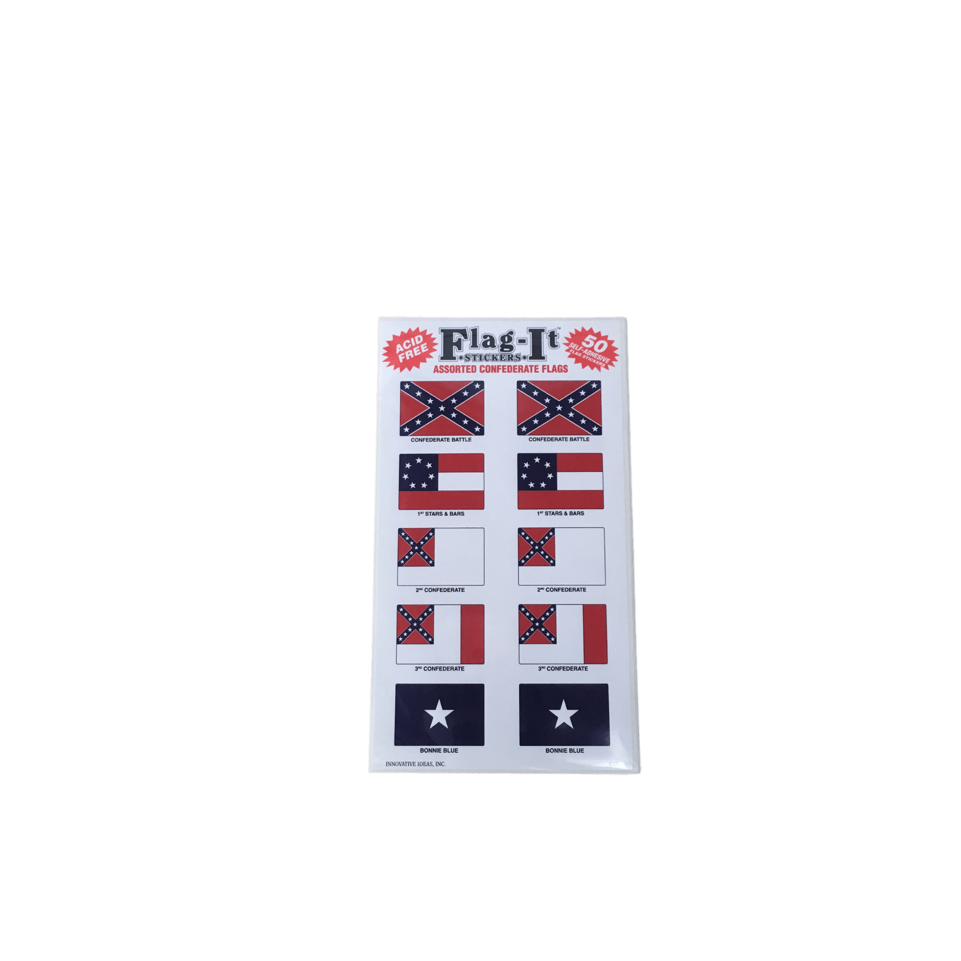 Pack of 50 assorted confederate flag stickersstickerthe dixie shop 14558853 pngv1536525782