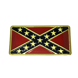 Premium Confederate Flag License Plate