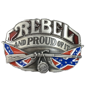 Rebel and Proud Belt Buckle