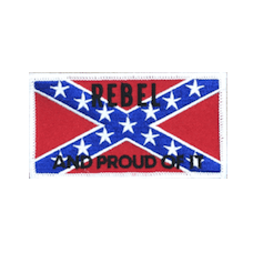 Rebel And Proud Confederate Flag Iron Patch