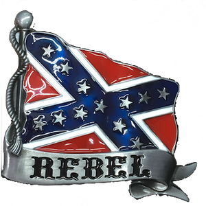 """Rebel"" Confederate Flag Belt Buckle"