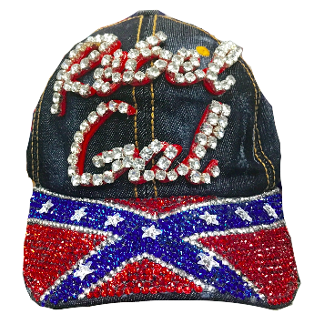 Rebel Gal Confederate Flag Denim Hat e21254d684b8