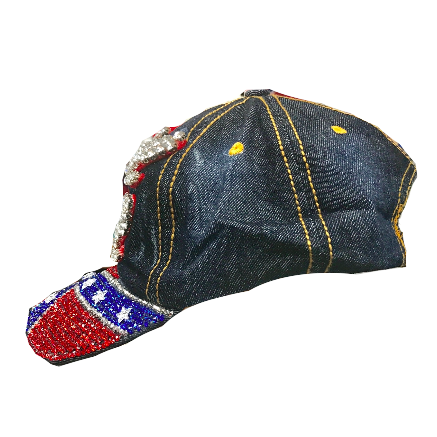 Rebel Gal Confederate Flag Denim Hat