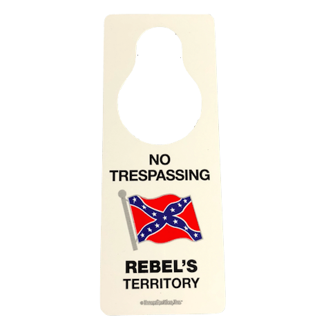 Rebel's Territory Door Tag