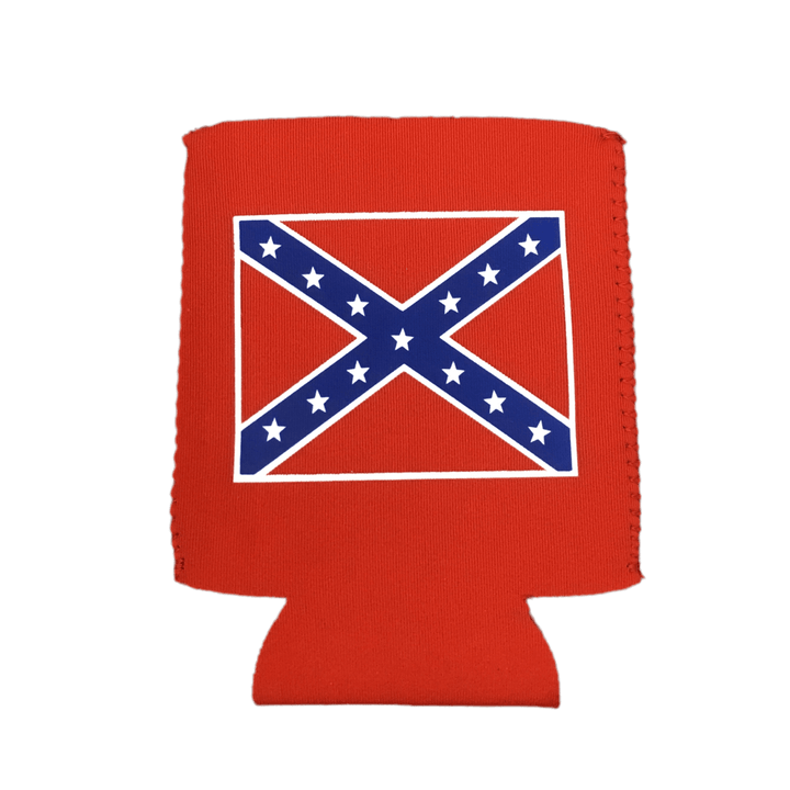 Red Confederate Flag Can Koozie