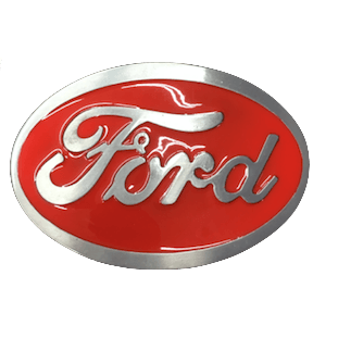 Red Ford Belt Buckle