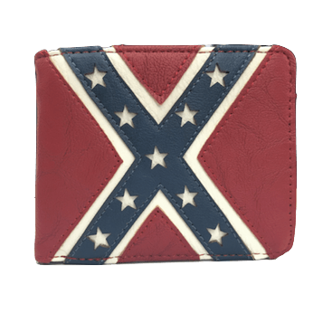 Rustic Confederate Flag Wallet