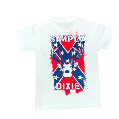 Simply Dixie Confederate Flag Deer T-Shirt (Youth)