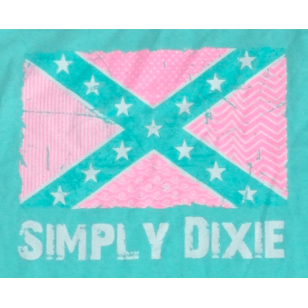Simply Dixie Preppy Confederate Flag T-Shirt