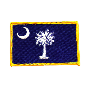 South Carolina State Flag Iron On Patch