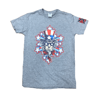 Star Struck Uncle Sam Confederate Flag T-Shirt