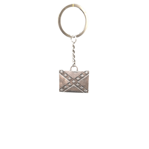 Steel Confederate Flag Keychain