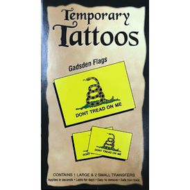 Temporary Gadsden Flag Tattoos