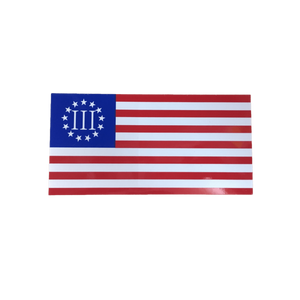 Three Percenter Flag Sticker