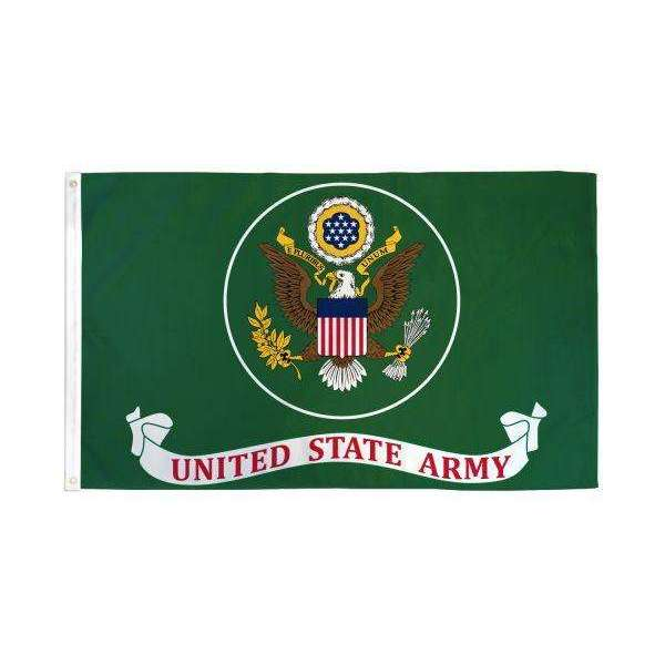 US Army Flag (Green) 3x5ft Poly