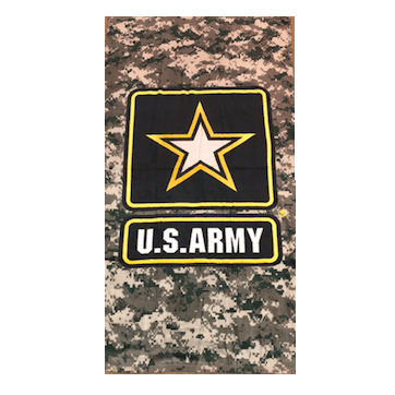 U.S. Army Star Camo Velour Towel