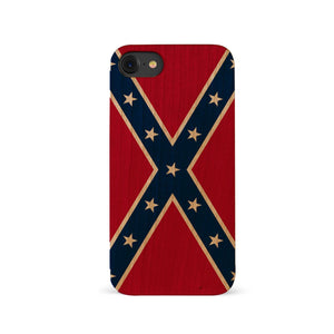 Wooden Confederate Flag iPhone Case