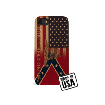 Wooden Confederate Transition Flag w/ Gadsden Snake iPhone Case