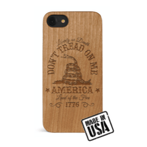 Wooden Liberty or Death iPhone Case
