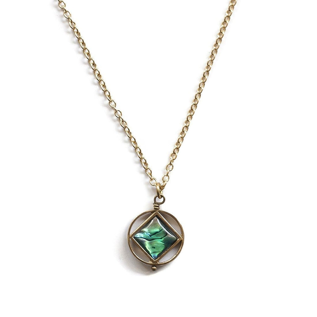 Mini Theorem Necklace / Abalone - Michelle Starbuck Designs