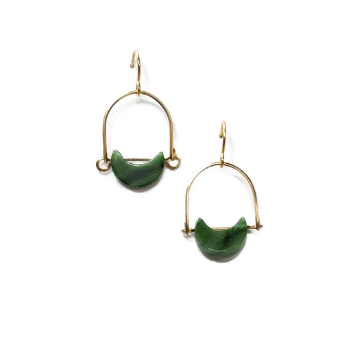Mini Eclipse Earrings / African Jade - Michelle Starbuck Designs