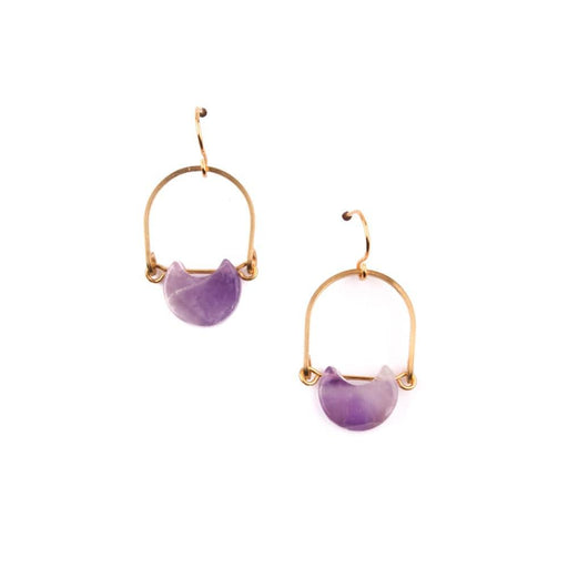 Mini Eclipse Earrings / Amethyst - Michelle Starbuck Designs