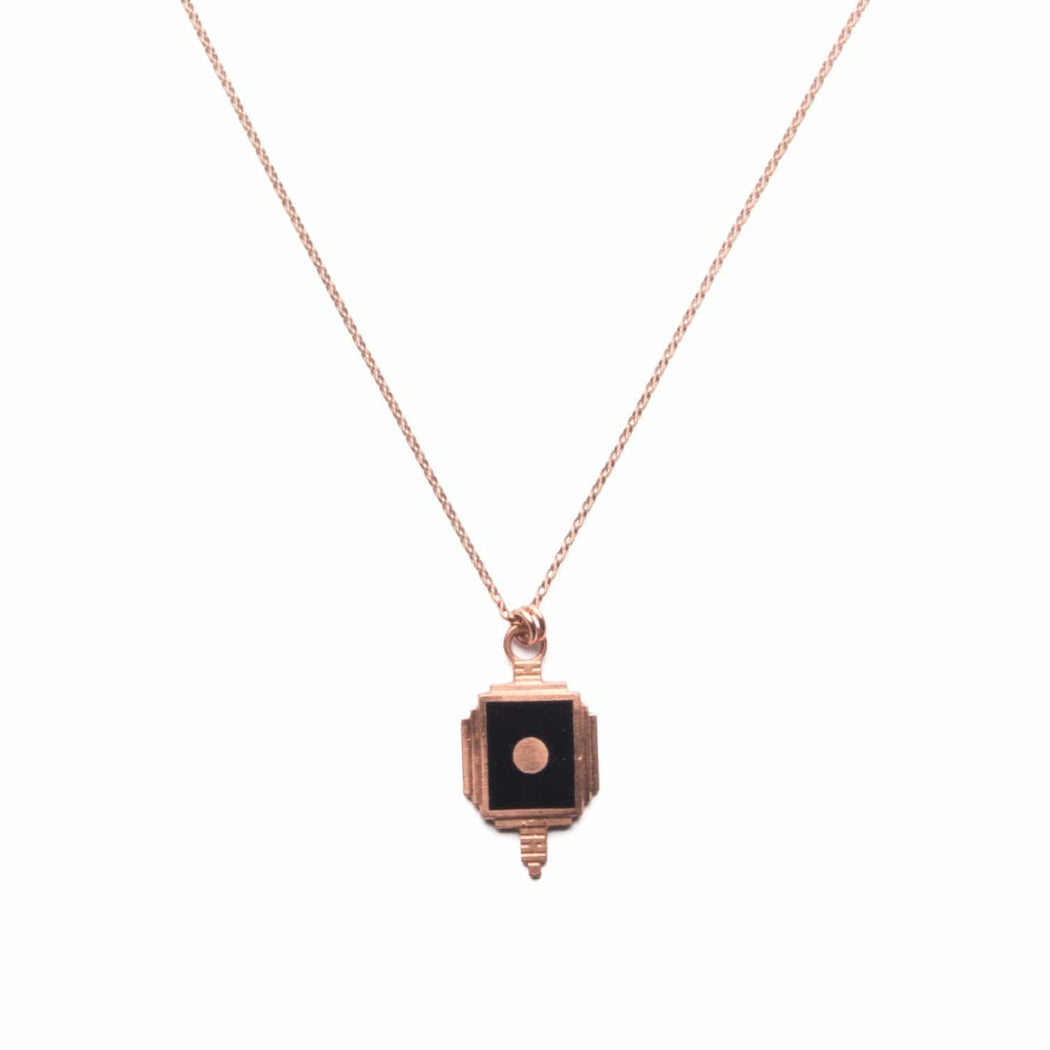 Copper Art Deco Pendant Necklace - Michelle Starbuck Designs
