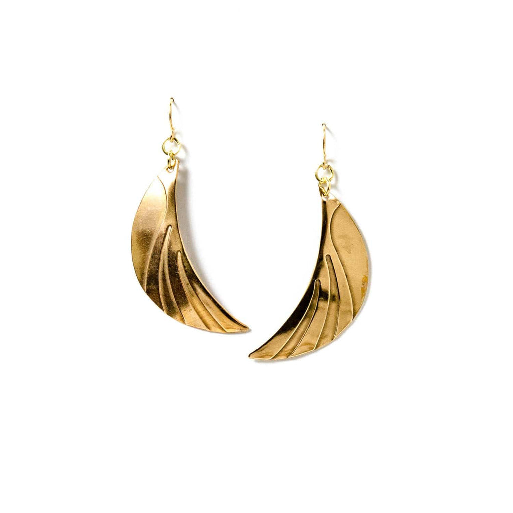 Crescent Wave Earrings