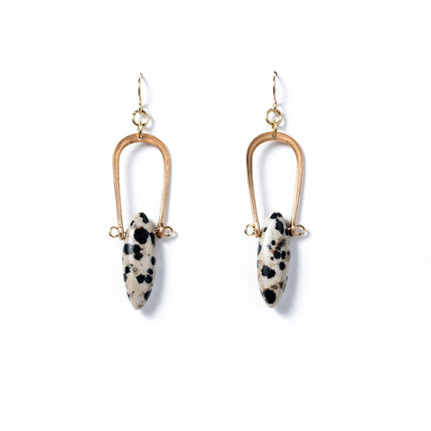 Amulet Earrings / Dalmatian Jasper