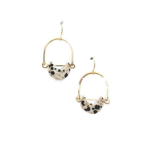 Mini Eclipse Earrings / Dalmatian Jasper - Michelle Starbuck Designs