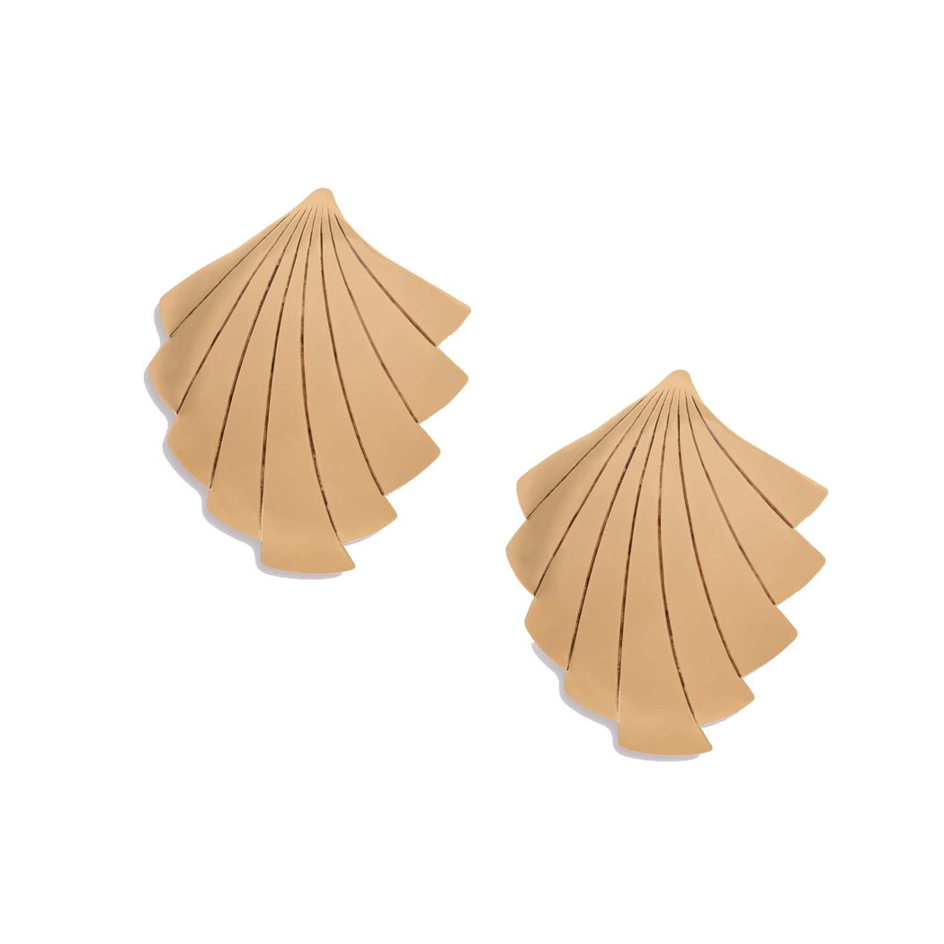 Vintage Deco Shell Earrings