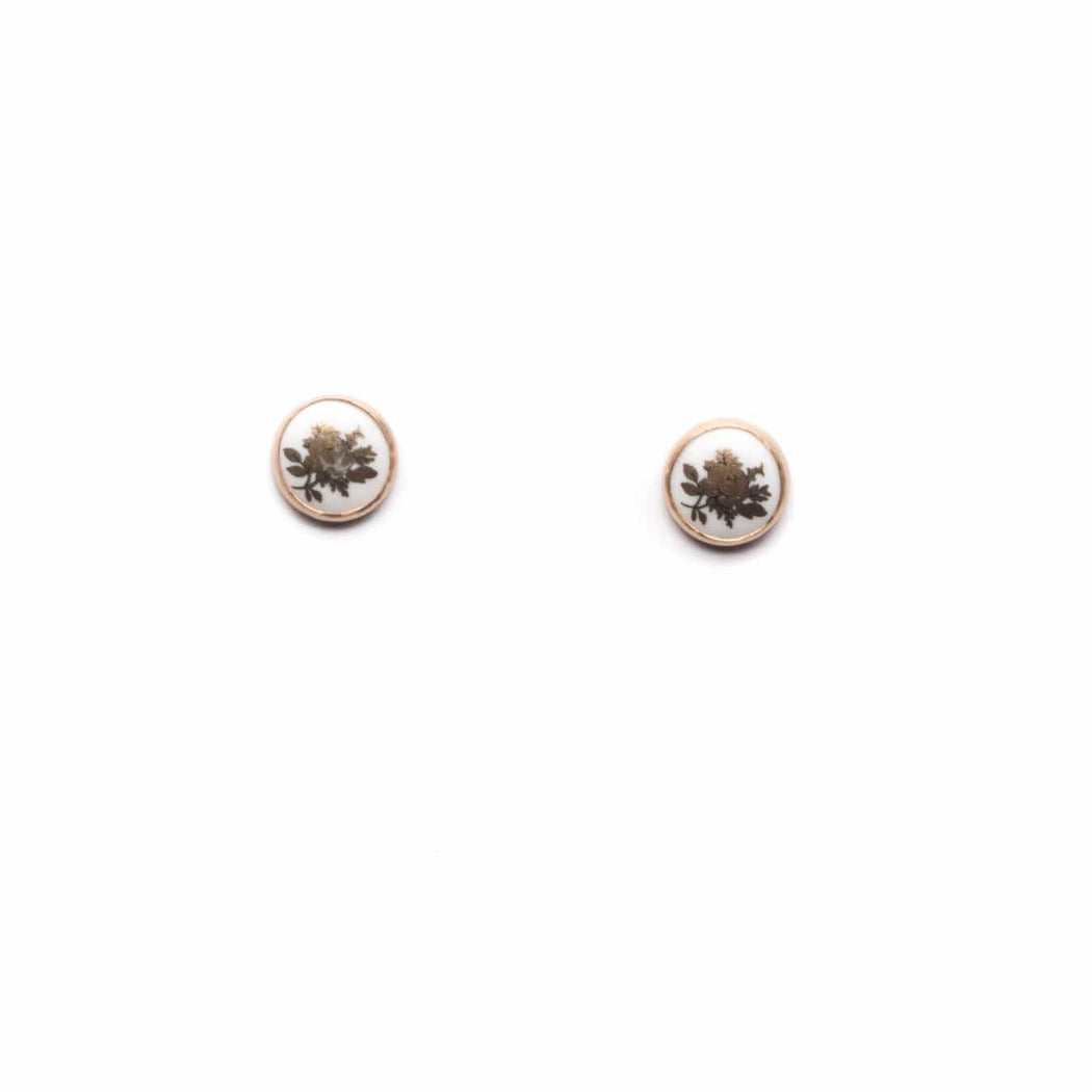 Gold Flower Studs - Michelle Starbuck Designs