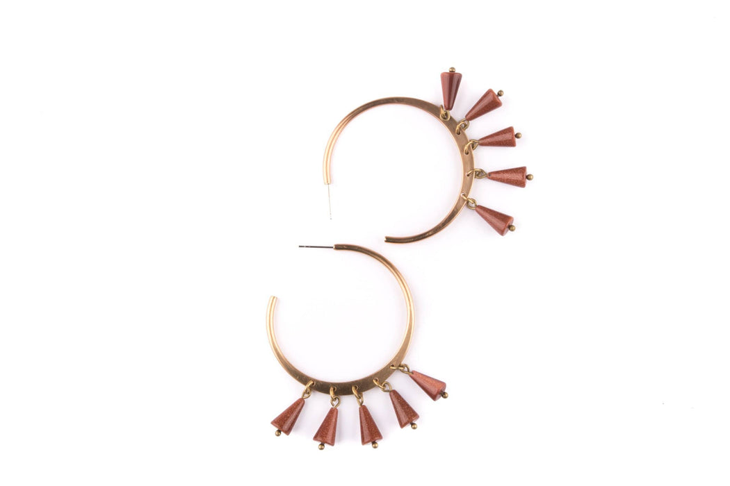 Halo Hoops / Goldstone - Michelle Starbuck Designs