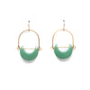 Eclipse Earrings / Green Aventurine - Michelle Starbuck Designs