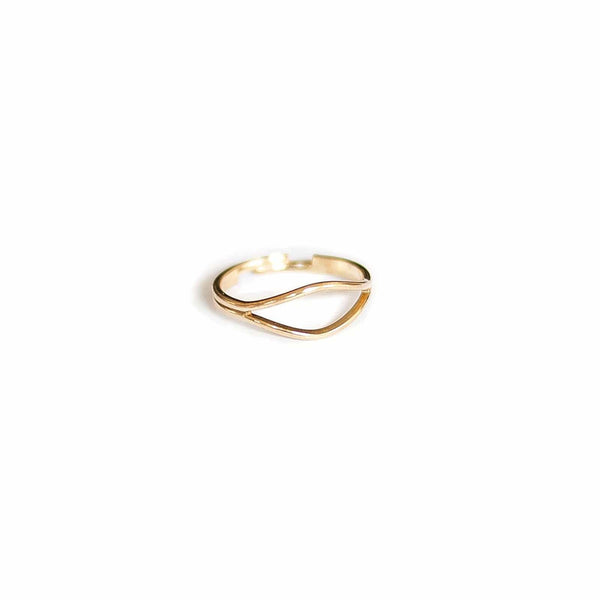 Vintage Brass Double Band Ring - Michelle Starbuck Designs