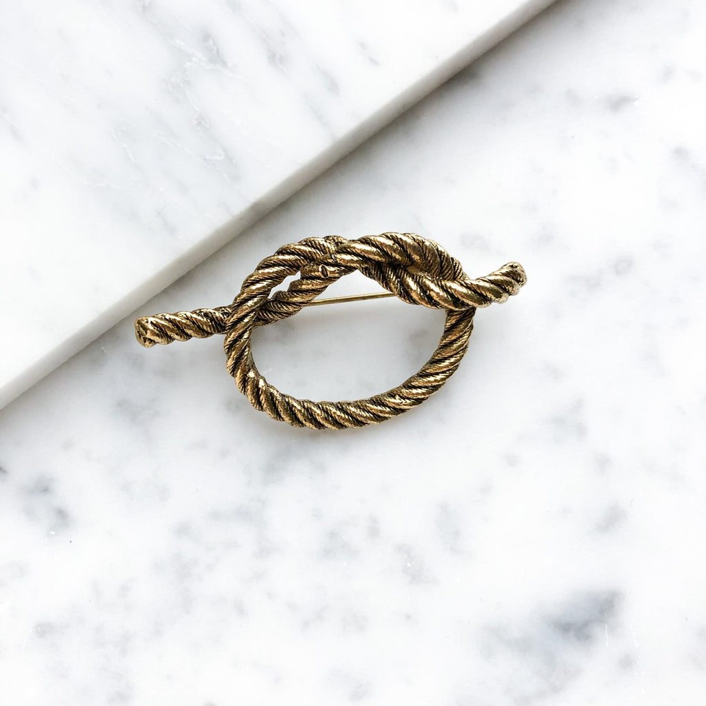 Vintage Rope Knot Pin - Michelle Starbuck Designs