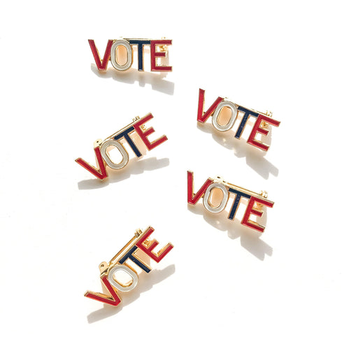 Vintage Vote Pin - Michelle Starbuck Designs